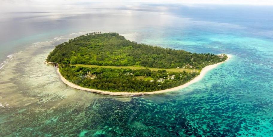 Denis Island Luftaufnahme Drohne