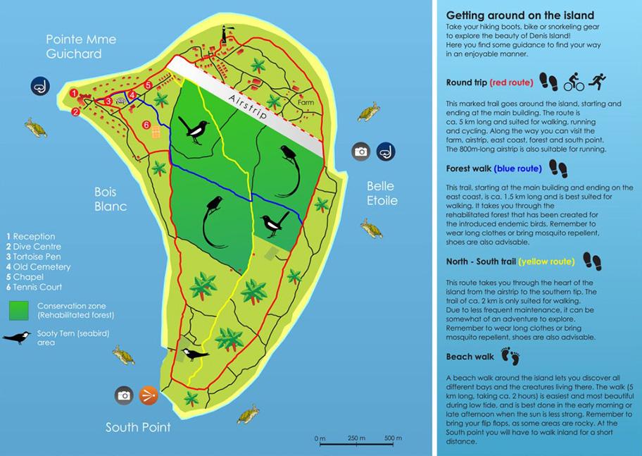 Denis Island Map Seychelles