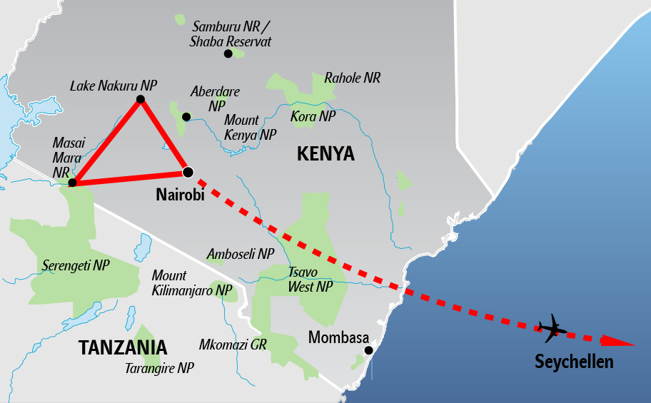 Seychellen Kenya Kombination