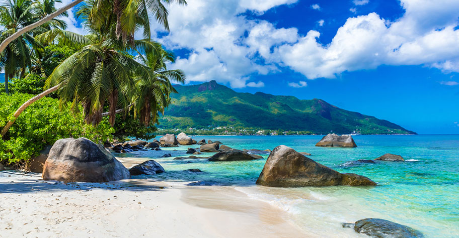 Beau Vallon Strand Seychellen