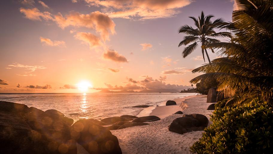 Silhouette Island Sonnenuntergang Seychellen