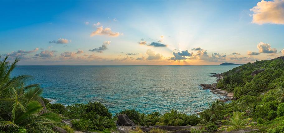 Aussicht Felicite Seychellen